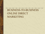 business-to-business online direct marketing