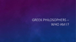Greek Philosopher Quiz PPT