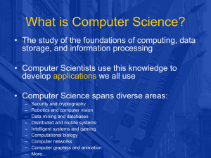 What is Computer Science? - Foundations of Programming