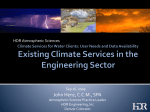 Existing Climate Services in the Engineering Sector