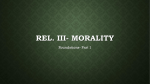 Morality: First Principles