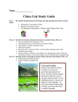 Ancient China Study Guide - Virginia Beach City Public Schools