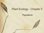 Plant Ecology - Chapter 5