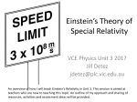 A8 Teaching Einstein`s Relativity in Unit 3