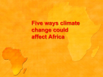 Five ways climate change could affect Africa