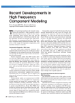 Recent Developments in High Frequency Component Modeling