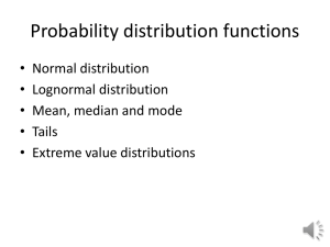 Random variable distributions