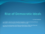 Rise of Democratic Ideals