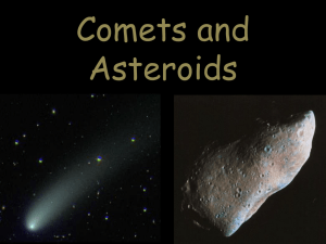Comets do not orbit forever.