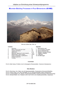 Mountain Building Processes in Four-Dimensions (4D-MB)