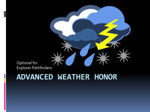 Advanced weather Honor Power Point