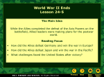 Lesson 25-5: World War II Ends