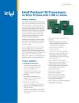 Intel® Pentium® M Processors - All