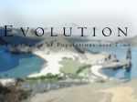 Evolution The Change of Populations over Time