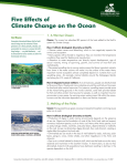 Five Effects of Climate Change on the Ocean