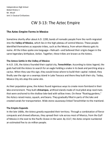 The Aztec Empire Forms in Mexico - Mr. Wisell`s Global History Web
