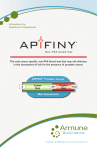 APIFINY® Prostate Cancer Risk Assessment Lower Risk Higher