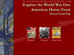 World War I Home Front - Virtual Field Trip File