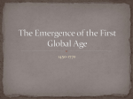 The Emergence of the First Global Age