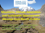 Mountains, Climate Adaptation and Sustainable Development