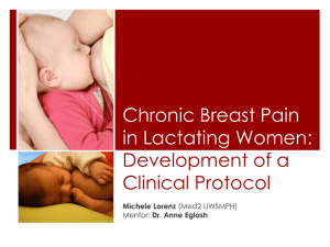 Chronic Breast Pain in Lactating Women: Development of a Clinical