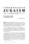 CONSERVATIVE JUDAISM - The Rabbinical Assembly