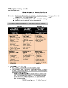 The French Revolution - Erie School District