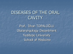 diseases of the oral cavity and oropharynx