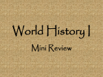 World History I Mini Review