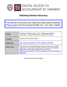 Rethinking Athenian Democracy The Harvard