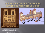 Power of the Church in the Middle Ages