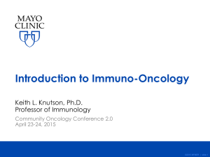 Introduction to Immuno-Oncology