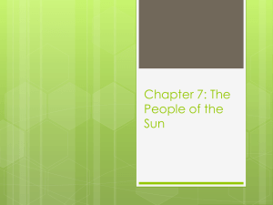 Chapter 7: The People of the Sun