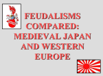 feudalisms compared: medieval japan and western