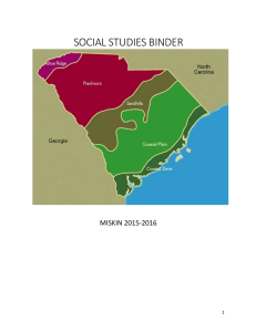 SOCIAL STUDIES BINDER - Kershaw County School District