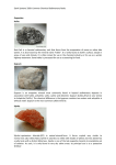 Common Chemical Sedimentary Rocks File