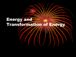 Energy and Transformation of Energy