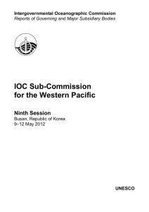 IOC Sub-Commission for the Western Pacific - UNESDOC