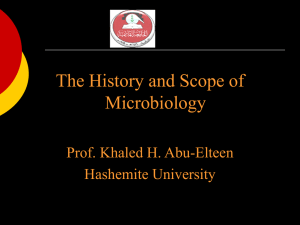 Unit 1: History and Scope of Microbiology