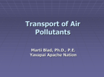 Dispersion of Air Pollutants