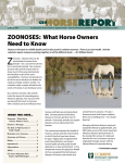 ZOONOSES: What Horse Owners Need to Know