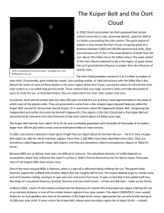 The Kuiper Belt and the Oort Cloud