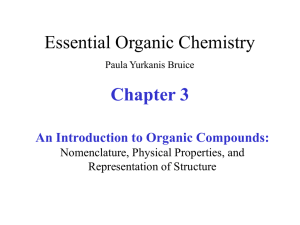 Chapter 3 An Introduction to Organic Compounds