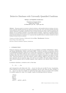 Deductive Databases with Universally Quantified Conditions