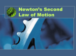 Newton`s 2nd power point