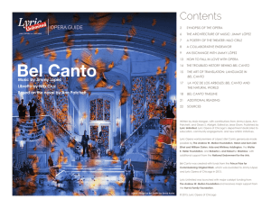 Bel Canto Opera Guide