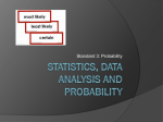 Statistics, Data Analysis and Probability