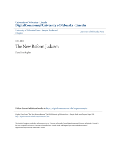 The New Reform Judaism - DigitalCommons@University of