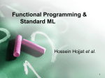 Functional Programming, ML, and the λ