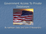 Government Access To Private Databases